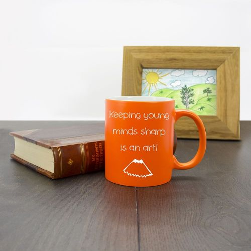 Keeping Young Minds Sharp! Matte Coloured Mug (choice of colour)